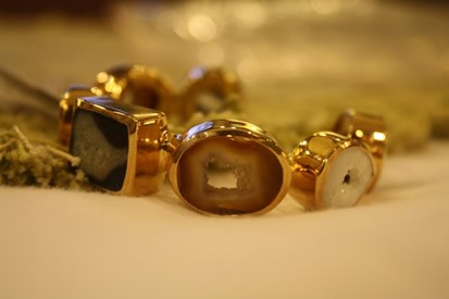 Agate Bracelet 18k Gold and silver