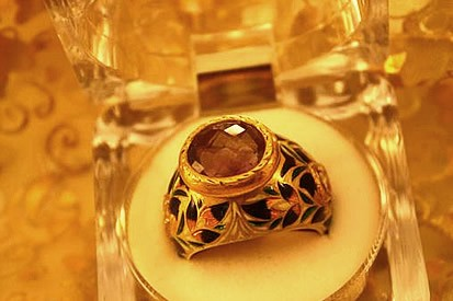 Antique Amethyst in Gold ring